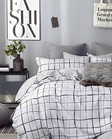 Bavlnená  saténová  posteľná  bielizeň  Albs-01132b/2  140x200