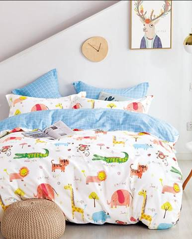 Bavlnená  saténová  posteľná  bielizeň  Albs-01138b/2  140x200