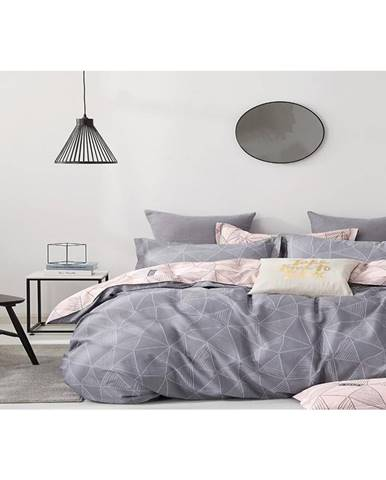 Bavlnená saténová posteľná bielizeň ALBS-01167B/2 140X200 Lasher