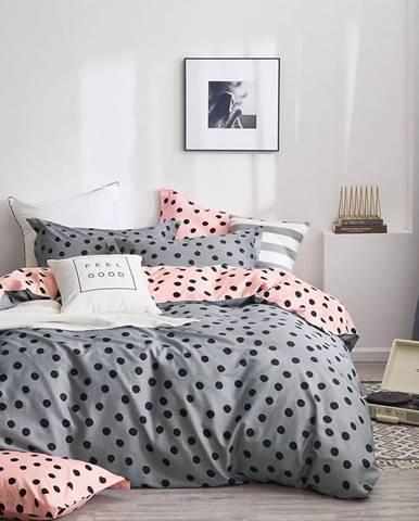 Bavlnená saténová posteľná bielizeň ALBS-01171B/2 140x200