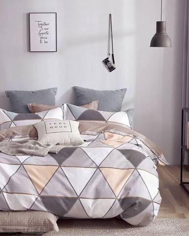 Bavlnená saténová posteľná bielizeň ALBS-01183B/3 160x200