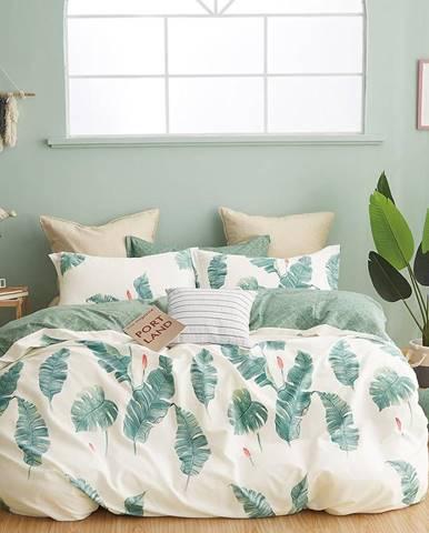 Bavlnená saténová posteľná bielizeň ALBS-01194B/2 140x200