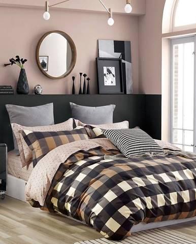 Bavlnená saténová posteľná bielizeň ALBS-01195B/3 200x220