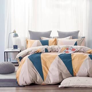 Bavlnená saténová posteľná bielizeň ALBS-01198B 160x200