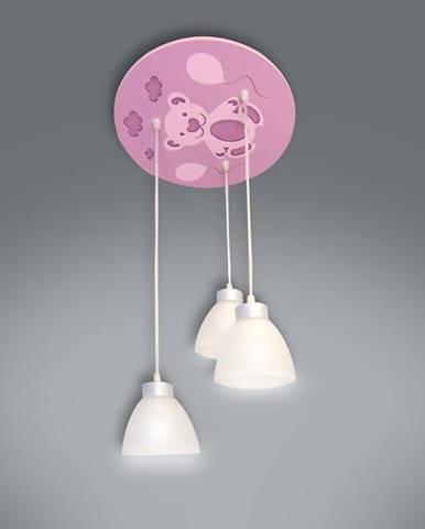 Lampa medveď ružová K3P-40 LW3