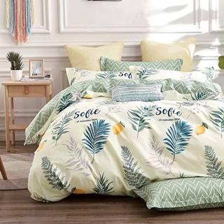 Bavlnená sátenová posteľná bielizeň ALBS-0985B/2 140x200