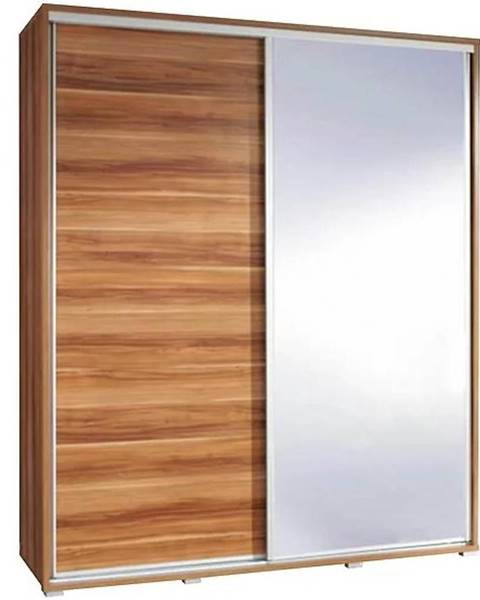 MERKURY MARKET Skriňa Penelopa 155 cm zrkadlová