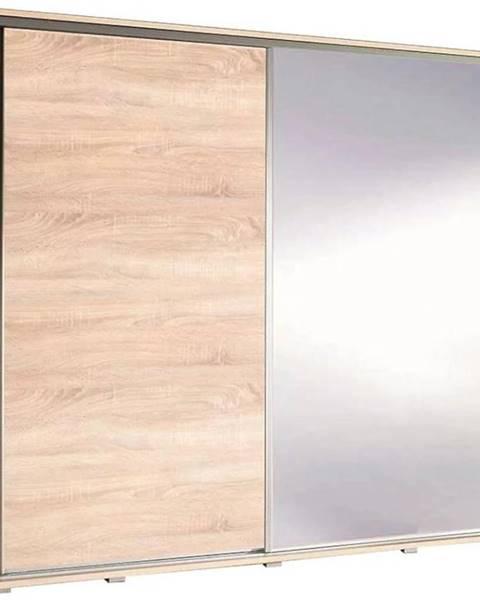 MERKURY MARKET Skriňa Penelopa 205 cm zrkadlová