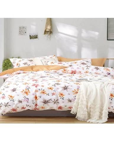 Bavlnená saténová posteľná bielizeň albs-01086b/2 140x200 lasher