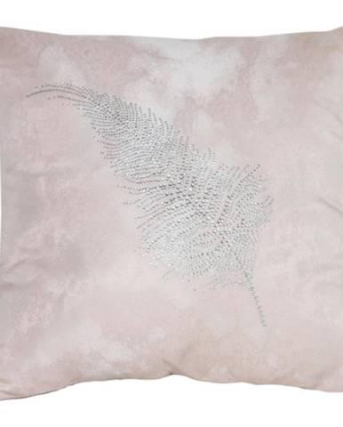 Obliečka na vankúš LS1812 40x40 ružový/strieborný list