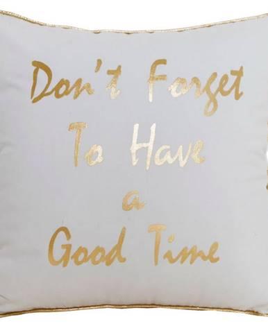Obliečka na vankúš SS1720 40x40 biela/zlatý nápis