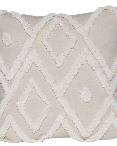 Obliečka na vankúš WA18137 40x40 béžová/biela