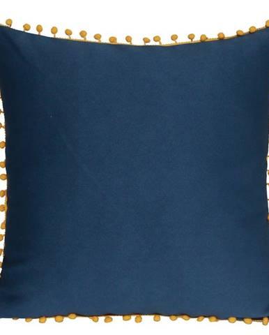 Obliečka na vankúš WA1893 40x40 modrý/oranžová s pompoms