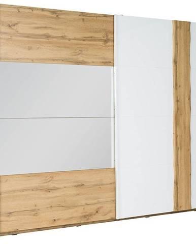 Skriňa Wood 12 250 cm biela/wotan