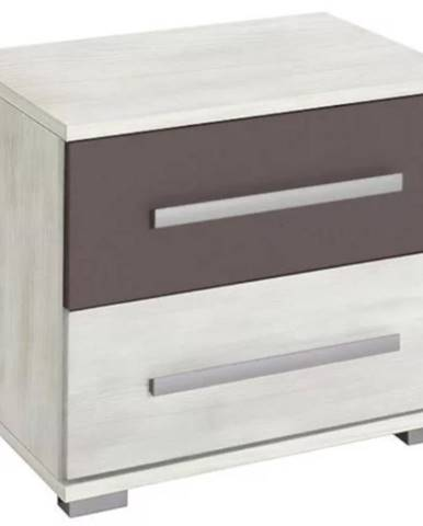 Nočný stolík Dione nórska borovica/šedá