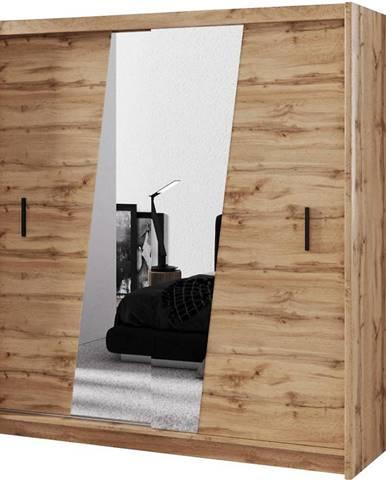 Skriňa Wenecja 203 Dub Wotan/Zrkadlo