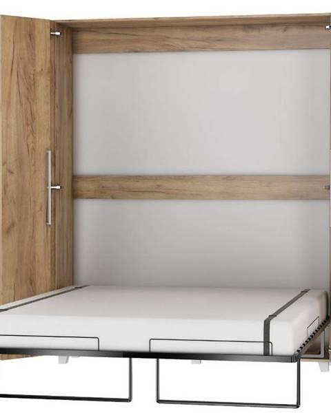 MERKURY MARKET Sklápacia posteľ Teddy 160 craft zlatý