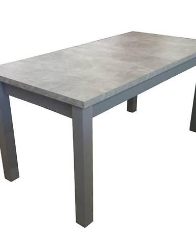 Jedálenský stôl ST28 120x80+40 beton DD
