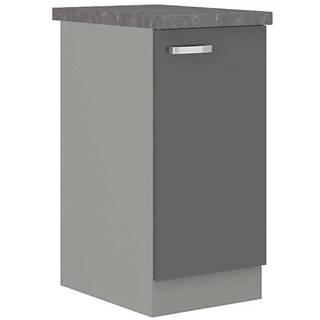 Skrinka do kuchyne Grey 40d 1f bb sivá
