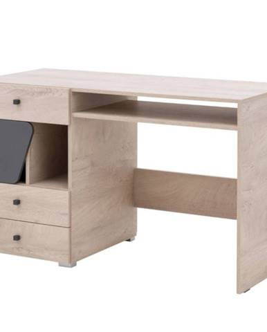 Písací stôl Delta 125 DL9 dub/antracit