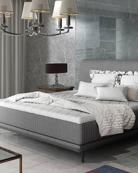 NABBI Ancona 180 čalúnená manželská posteľ sivá (Sawana 05)
