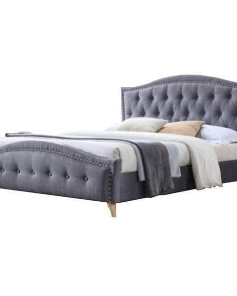 Tempo Kondela Giovana 180 manželská posteľ 180x200 cm sivá