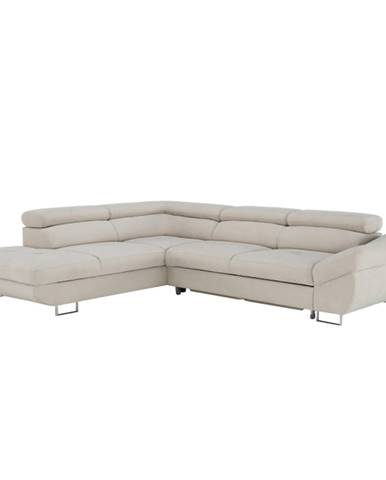 Fabia L rohová sedačka sivobéžová