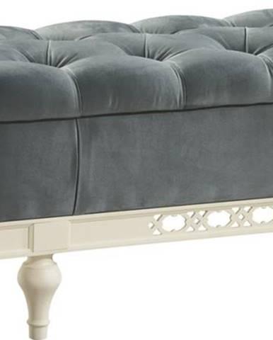 Florencja FL čalúnená lavica s úložným priestorom svetlomodrá (Velvet-B1 175)