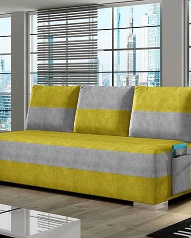 Adria rozkladacia pohovka s úložným priestorom žltá