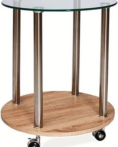 Carla konferenčný stolík na kolieskach chrómová