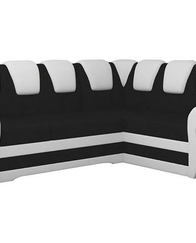 Latino II P rohová sedačka s rozkladom a úložným priestorom čierna (Sawana 14)
