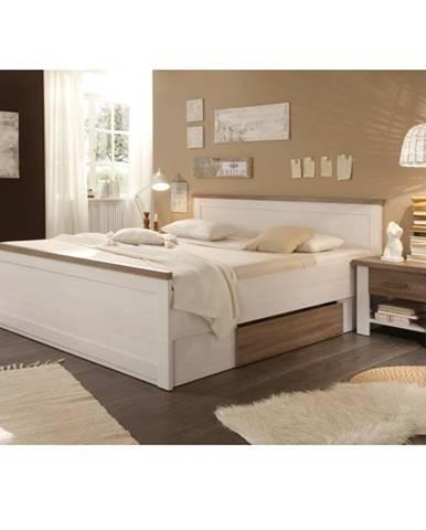 Lumera 180 manželská posteľ s nočnými stolíkmi (2 ks) pínia biela