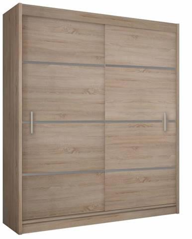 Merina 150 2D šatníková skriňa s posuvnými dverami dub sonoma