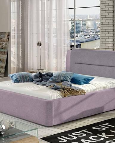 Portima 160 čalúnená manželská posteľ ružová