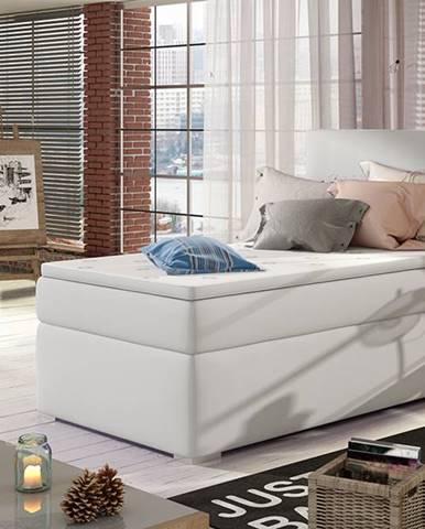 Rodrigo 90 P čalúnená jednolôžková posteľ s úložným priestorom biela