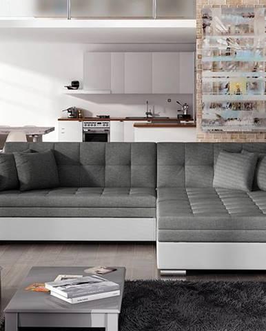 Salerno P rohová sedačka s rozkladom sivá (Sawana 05)