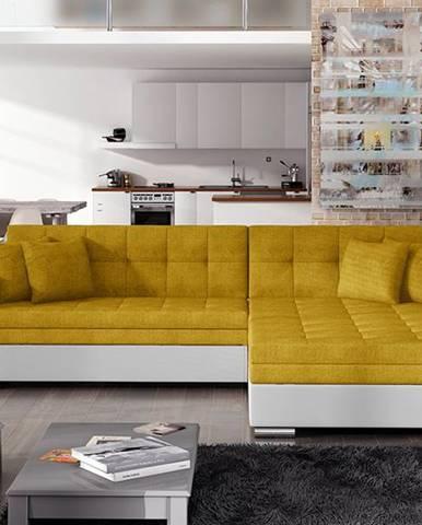 Salerno P rohová sedačka s rozkladom žltá