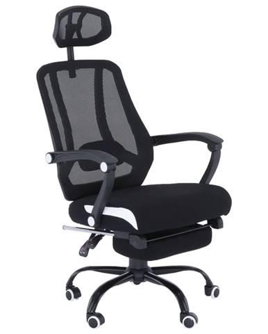 Sidro kancelárske kreslo s podrúčkami čierna