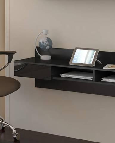 Uno pc stolík na stenu čierna