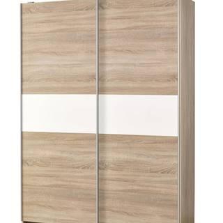 Lima S1 šatníková skriňa s posuvnými dverami dub sonoma