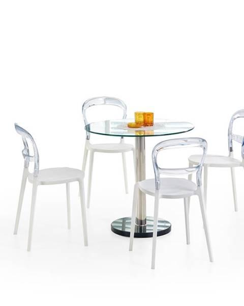Halmar Cyryl sklenený jedálenský stôl priehľadná
