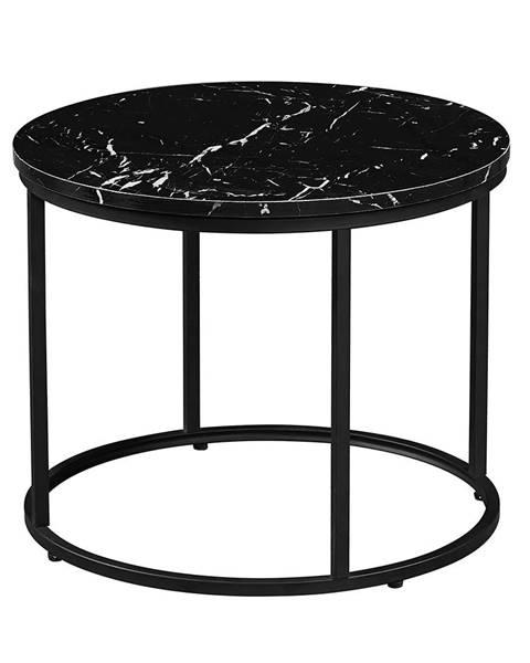 Tempo Kondela Gagin okrúhly konferenčný stolík čierny mramor