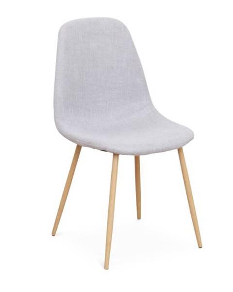 Tempo Kondela Lega jedálenská stolička svetlosivá