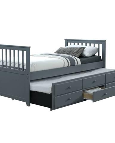Austin New 90 rozkladacia posteľ s prísteľkou sivá