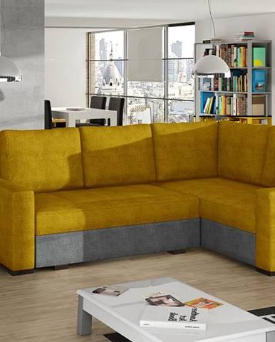 Castelo P rohová sedačka s rozkladom a úložným priestorom žltá