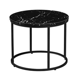Gagin okrúhly konferenčný stolík čierny mramor