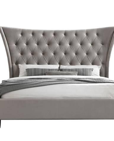 Alesia manželská posteľ s roštom svetlohnedá