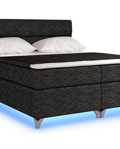 Avellino 180 čalúnená manželská posteľ s úložným priestorom čierna (Berlin 02)