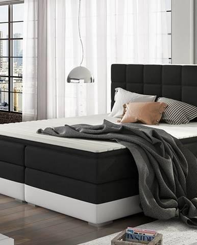 Dalino 140 čalúnená manželská posteľ s úložným priestorom čierna