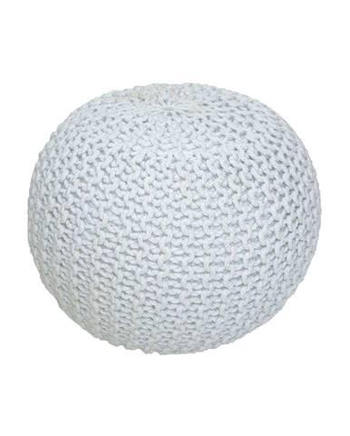 Gobi Typ 1 pletená taburetka smotanová